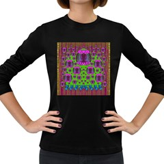 Ladies Looking At Beauty And Love Women s Long Sleeve Dark T-Shirts