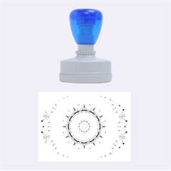 Sapphire Ice Flame, Light Bright Crystal Wheel Rubber Oval Stamps