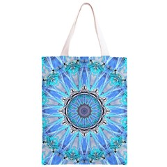 Sapphire Ice Flame, Light Bright Crystal Wheel Classic Light Tote Bag
