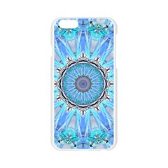 Sapphire Ice Flame, Light Bright Crystal Wheel Apple Seamless iPhone 6/6S Case (Transparent)