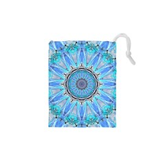 Sapphire Ice Flame, Light Bright Crystal Wheel Drawstring Pouches (XS)