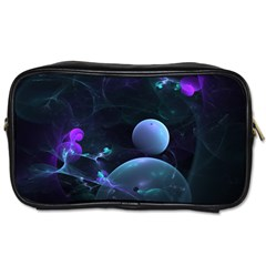 The Music Of My Goddess, Abstract Cyan Mystery Planet Toiletries Bags
