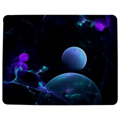 The Music Of My Goddess, Abstract Cyan Mystery Planet Jigsaw Puzzle Photo Stand (Rectangular)