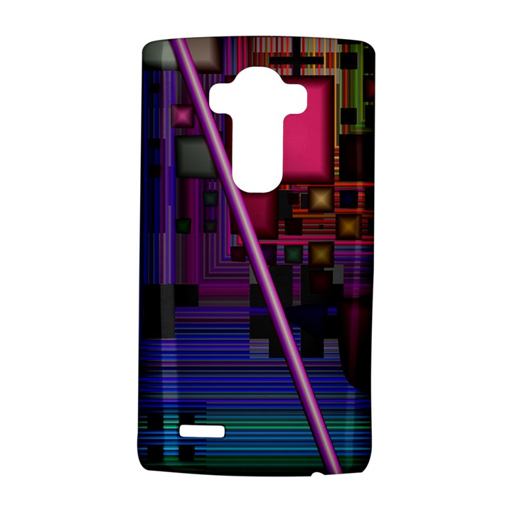 Jewel City, Radiant Rainbow Abstract Urban LG G4 Hardshell Case