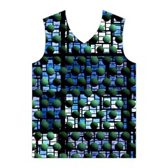 Looking Out At Night, Abstract Venture Adventure (venture Night Ii) Men s Basketball Tank Top