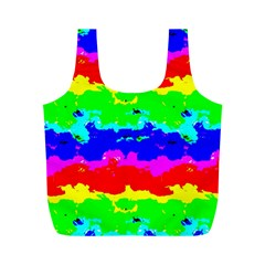 Colorful Digital Abstract  Full Print Recycle Bags (m)