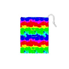 Colorful Digital Abstract  Drawstring Pouches (XS)