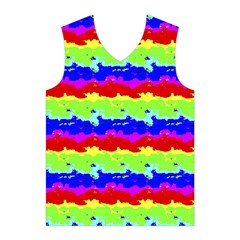 Colorful Abstract Collage Print Men s Basketball Tank Top
