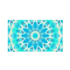 Blue Ice Goddess, Abstract Crystals Of Love Satin Wrap