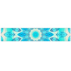 Blue Ice Goddess, Abstract Crystals Of Love Flano Scarf (large)