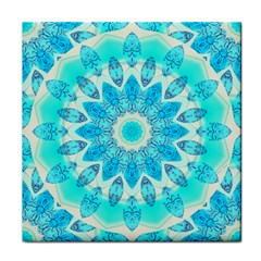 Blue Ice Goddess, Abstract Crystals Of Love Face Towel