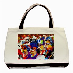 Ccr Canvas Twin Sided Black Tote Bag
