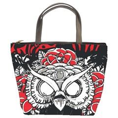 Dark Owl Bucket Handbag