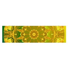 Yellow Green Abstract Wheel Of Fire Satin Scarf (oblong)