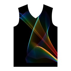 Abstract Rainbow Lily, Colorful Mystical Flower  Men s Basketball Tank Top