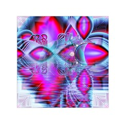 Crystal Northern Lights Palace, Abstract Ice  Small Satin Scarf (square)