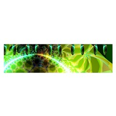 Dawn Of Time, Abstract Lime & Gold Emerge Satin Scarf (oblong)
