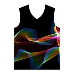 Fluted Cosmic Rafluted Cosmic Rainbow, Abstract Winds Men s Basketball Tank Top