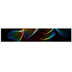 Imagine, Through The Abstract Rainbow Veil Flano Scarf (large)