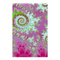 Raspberry Lime Surprise, Abstract Sea Garden  Shower Curtain 48  X 72  (small)