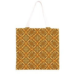 Luxury Check Ornate Pattern Grocery Light Tote Bag