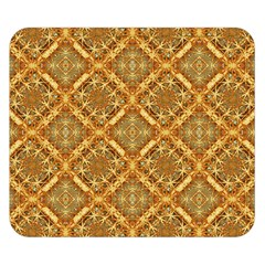 Luxury Check Ornate Pattern Double Sided Flano Blanket (small)