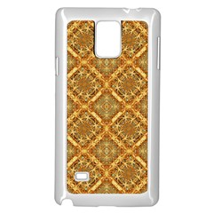 Luxury Check Ornate Pattern Samsung Galaxy Note 4 Case (white)