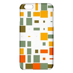 Rectangles and squares in retro colors  			iPhone 6 Plus/6S Plus TPU Case