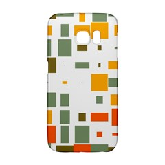 Rectangles And Squares In Retro Colors  samsung Galaxy S6 Edge Hardshell Case
