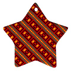 Distorted Stripes And Rectangles Pattern      ornament (star)