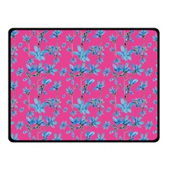 Floral Collage Revival Fleece Blanket (small)