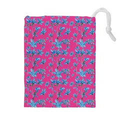 Floral Collage Revival Drawstring Pouches (Extra Large)