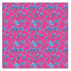 Floral Collage Revival Print Large Satin Scarf (square)