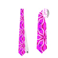 Pink Snowflakes Spinning In Winter Neckties (two Side)