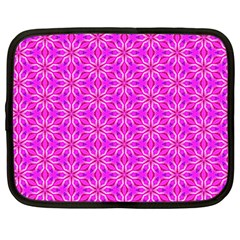 Pink Snowflakes Spinning In Winter Netbook Case (Large)