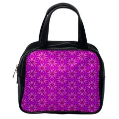 Pink Snowflakes Spinning In Winter Classic Handbags (One Side)