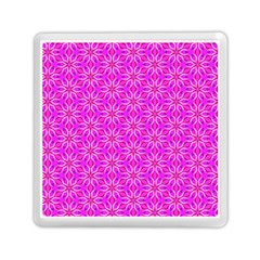 Pink Snowflakes Spinning In Winter Memory Card Reader (Square)
