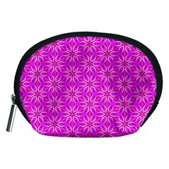 Pink Snowflakes Spinning In Winter Accessory Pouches (Medium)