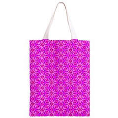 Pink Snowflakes Spinning In Winter Classic Light Tote Bag
