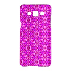 Pink Snowflakes Spinning In Winter Samsung Galaxy A5 Hardshell Case