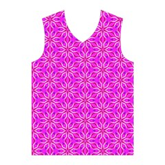 Pink Snowflakes Spinning In Winter Men s Basketball Tank Top