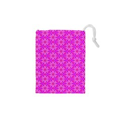 Pink Snowflakes Spinning In Winter Drawstring Pouches (XS)