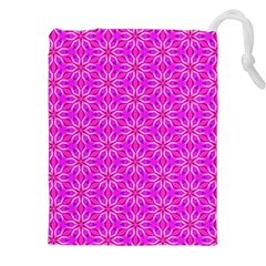 Pink Snowflakes Spinning In Winter Drawstring Pouches (XXL)
