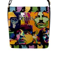 Beatles Medium Flap Closure Messenger Bag (l)