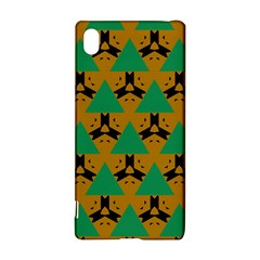 Triangles And Other Shapes Pattern        			sony Xperia Z3+ Hardshell Case