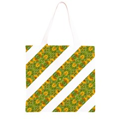 Indian Floral Pattern Stripes Grocery Light Tote Bag