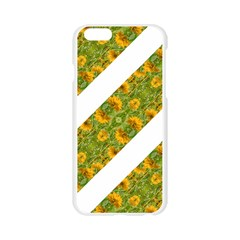 Indian Floral Pattern Stripes Apple Seamless iPhone 6/6S Case (Transparent)