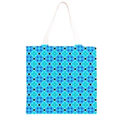 Vibrant Modern Abstract Lattice Aqua Blue Quilt Grocery Light Tote Bag