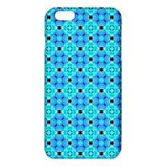 Vibrant Modern Abstract Lattice Aqua Blue Quilt iPhone 6 Plus/6S Plus TPU Case