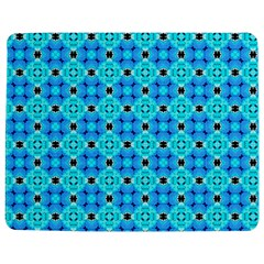 Vibrant Modern Abstract Lattice Aqua Blue Quilt Jigsaw Puzzle Photo Stand (Rectangular)